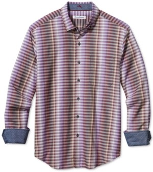 Tommy Bahama Men's Big & Tall Surf Springs Stripe Classic-Fit Stretch Check Shirt