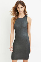 Forever 21 FOREVER 21+ Contemporary Metallic Knit Dress