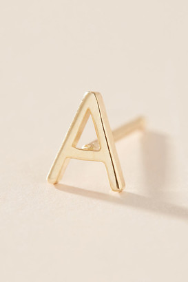 Maya Brenner 14K Yellow Gold Monogram Post Earring By in Size ALL