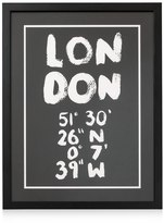 Oliver Bonas London Coordinates Wall Art
