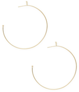 Mizuki 14K Gold Feather Hoop Earrings