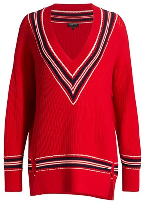 Rag & Bone Dianna Oversized Merino Wool-Blend Striped Sweater