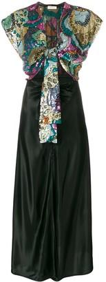 ATTICO front-tie sequin Georgette dress