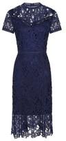 Dorothy Perkins Womens Chi Chi London Navy Crochet Bodycon Dress, Navy