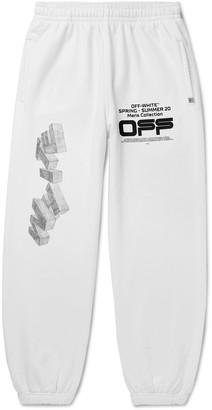 Off-White Off White Logo-Print Loopback Cotton-Jersey Sweatpants