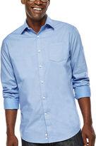 Claiborne Long-Sleeve Dobby Woven Shirt