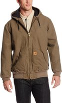 Carhartt Men's Big & Tall Quilt Flannel Lined Sandstone Active Jacket