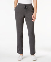 Karen Scott Petite Drawstring Active Pants, Only at Macy's