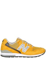 New Balance 996 Luxury Suede And Nylon Mesh Sneakers