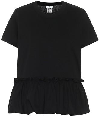 Noir Kei Ninomiya Ruffle-hem cotton T-shirt