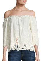 Ella Moss Jaedynn Off-the-Shoulder Embroidered Top