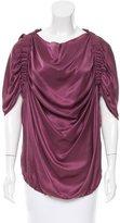 Lanvin Silk Draped Blouse