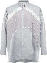 08sircus contrast panel shirt - men - Cotton - 4