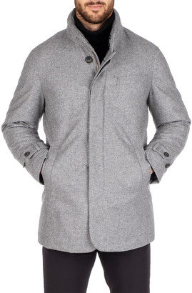 Norwegian Wool Men's Waterproof Heathered Pure Cashmere Car Coat