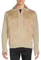 Saks Fifth Avenue Chenille Zippered Jacket