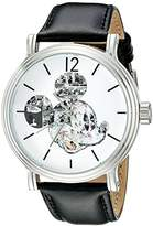 Disney Men's W002323 Mickey Mouse Silver-Tone Watch with Band