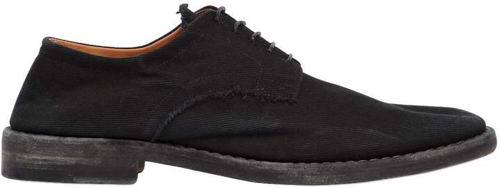 Maison Margiela Washed Cotton Canvas Derby Shoes