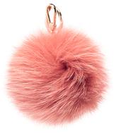 Furla Women's Bubble Fur Pom Pom Keyring Paprika