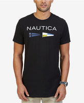 Nautica Men's Big & Tall Graphic Print Flag Logo T-Shirt