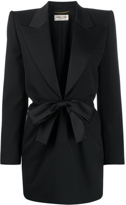 Saint Laurent Bow Tie Tuxedo Dress