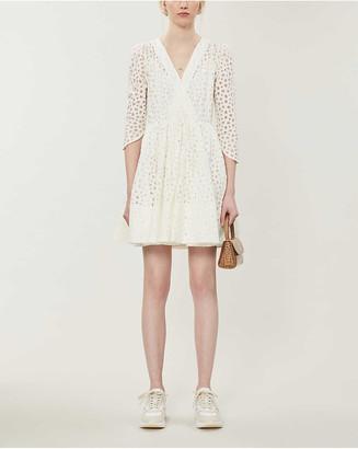 Maje Ralina semi-sheer woven mini dress