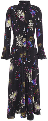 Mary Katrantzou Floral-print Satin Maxi Dress