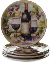 Certified International Sanctuary Wine Set of 4 Salad Plates
