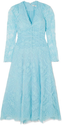 Erdem Annalee Ruched Corded Lace Dress