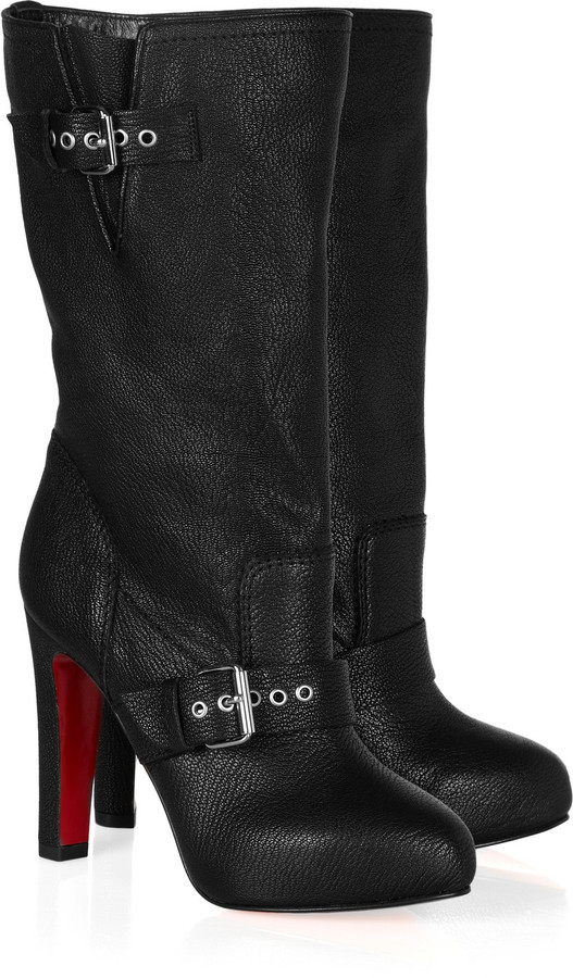 Christian Louboutin Flavavec 120 textured-leather boots