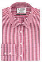 Thomas Pink Meadows Check Super Slim Fit Button Cuff Shirt