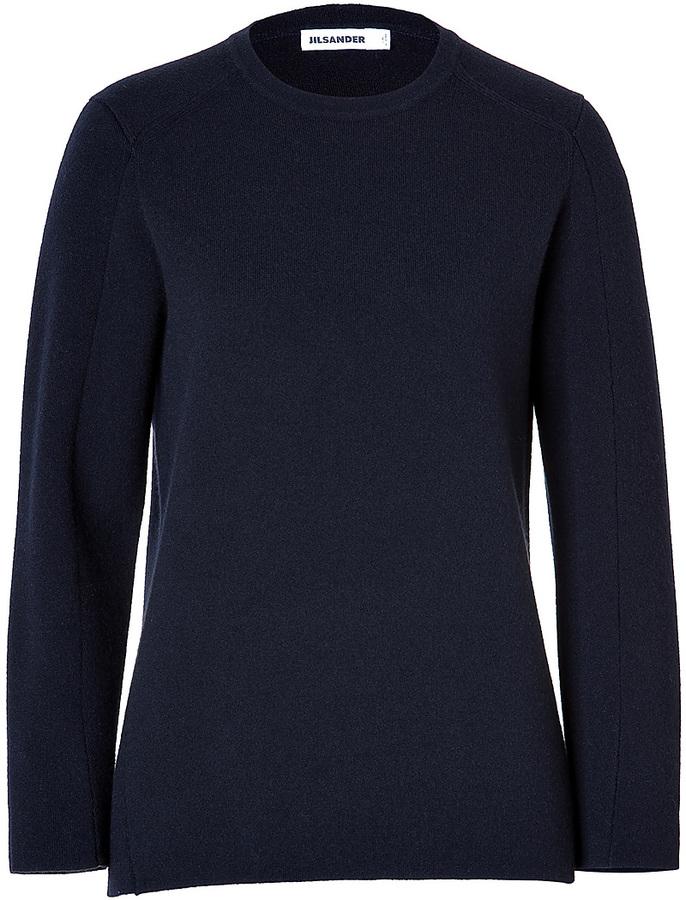 Jil Sander Cashmere Pullover in Navy/Black