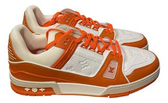 Louis Vuitton Trainer Orange Leather Trainers
