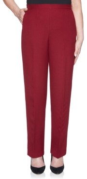 Alfred Dunner Madison Ave Petite Pull-On Back Elastic Textured Proportioned Medium Pant