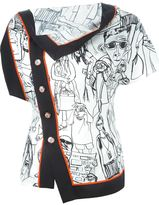 Emilio Pucci illustration print shirt - women - Silk - 42