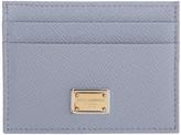Dolce & Gabbana Blue Leather Card Holder