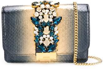 Gedebe embellished snakeskin-effect bag