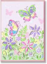 Stupell Industries The Kids Room by Stupell Pastel Butterflies and Flowers Rectangle Wall Plaque