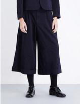 Comme des Garcons Wide-leg high-rise twill culottes