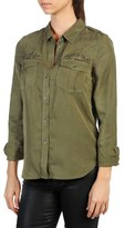 Paige Mya Grommet & Stud Embellished Shirt