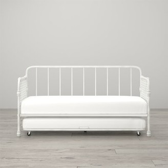 Monarch Hill Wren Twin Daybed with Trundle Little Seeds Bed Frame Color: White
