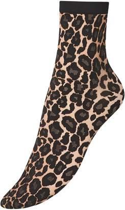 Wolford Leopard-Print Ankle Socks