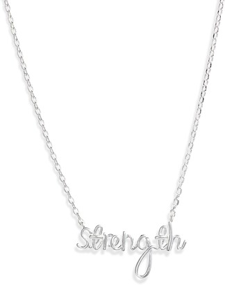 Estella Bartlett Strength Silvertone Pendant Necklace