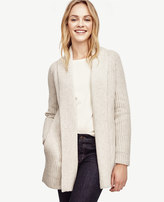 Ann Taylor Petite Cashmere Ribbed Open Cardigan