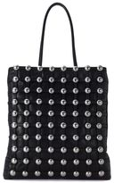 Alexander Wang Dome Black Leather Shopper With Studs