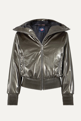 Fusalp Melly Hooded Luminescent Ski Jacket - Silver