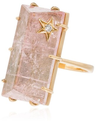 Andrea Fohrman 14kt Yellow Gold, Diamond And Quartz Ring