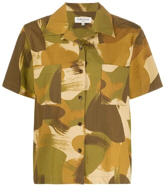 YMC Brush Stroke Print Shirt