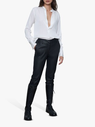 Winser London Faux Leather Trousers, Black