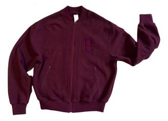 La Perla Burgundy Cotton Leather jackets