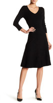 Alexia Admor 3/4 Length Sleeve Sweater Knit Dress